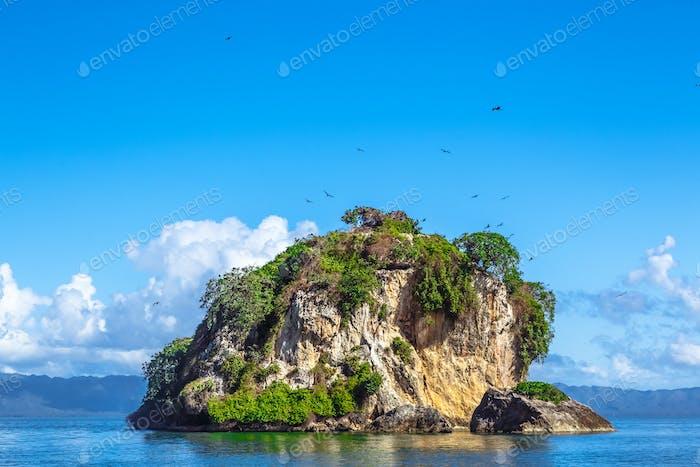 Small Stone Islands in Samana Peninsula, Dominican Republic
