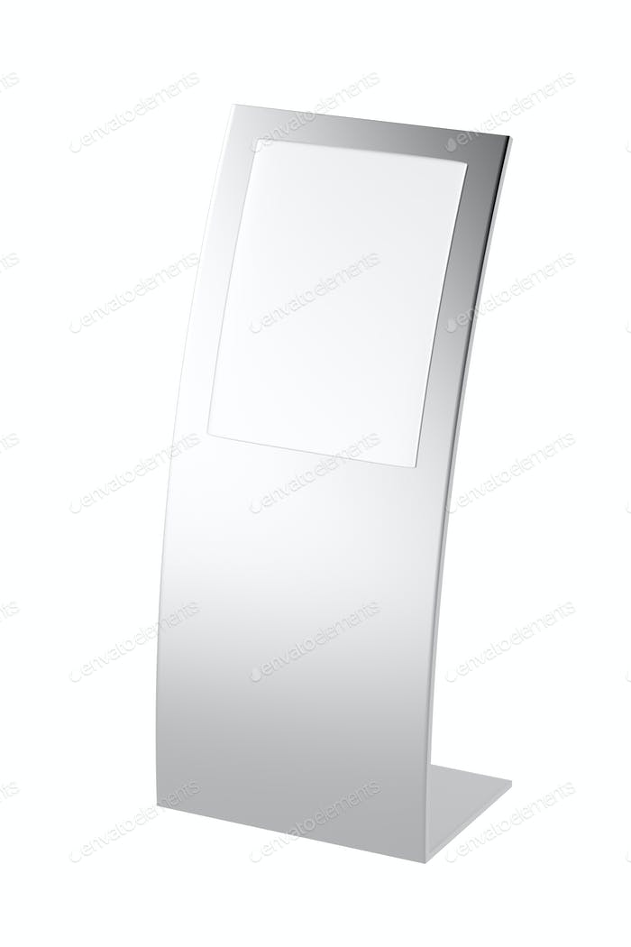 Curved silver ad panel