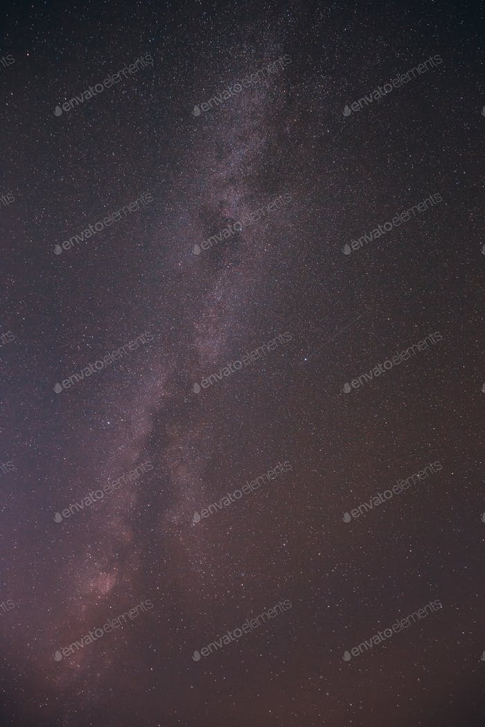 Night Sky Stars With Milky Way Galaxy