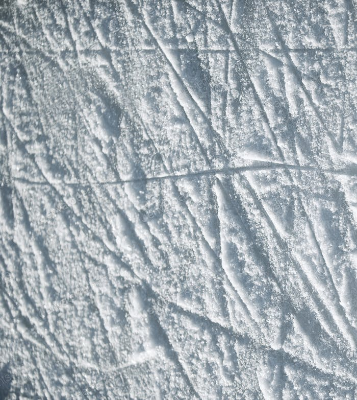 Белый снег с рисунком