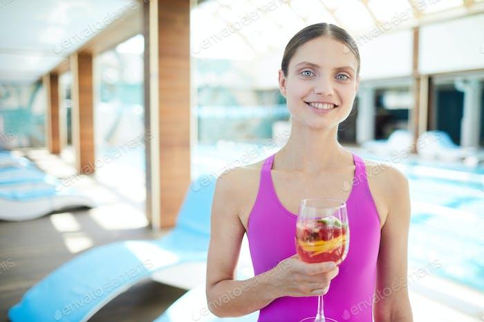 Girl having cocktail