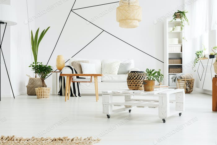 Up-to-date white apartment