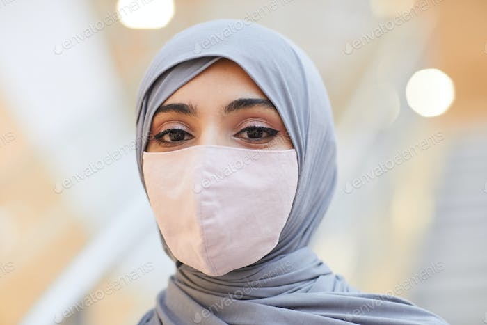 Elegant Middle-Eastern Woman Wearing Mask