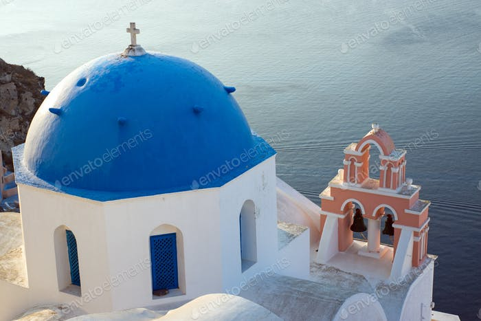 Church on Santorini island