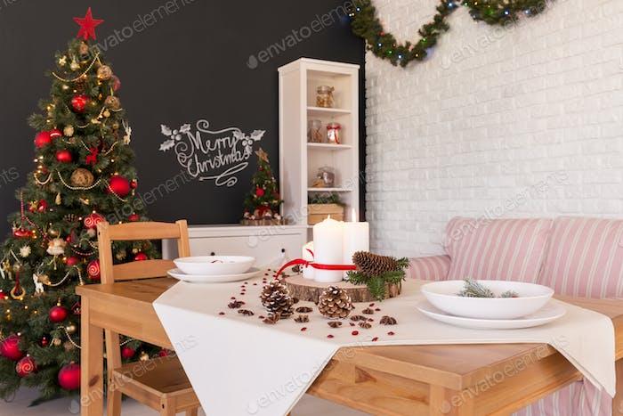 Christmas dining hall