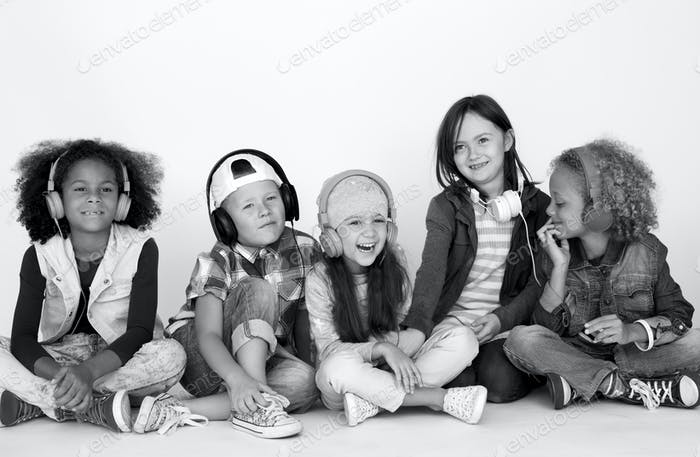 Kid Childhood People Race Emotional Studio Shoot