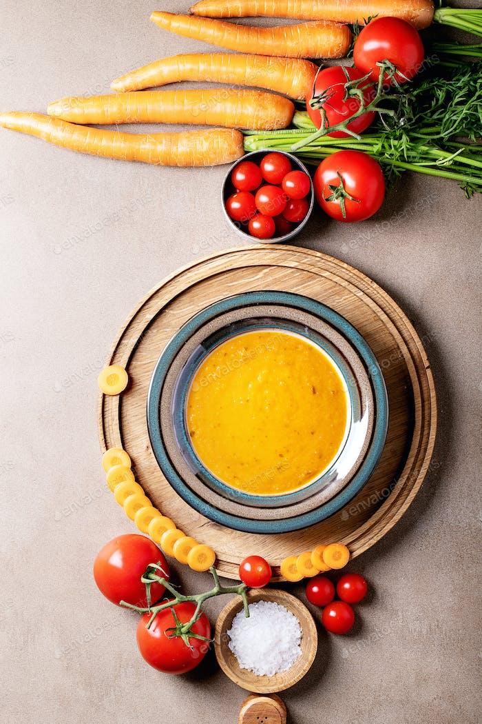 Karottenpüree Suppe