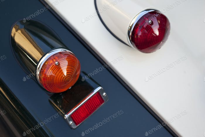 Close up of car headlights