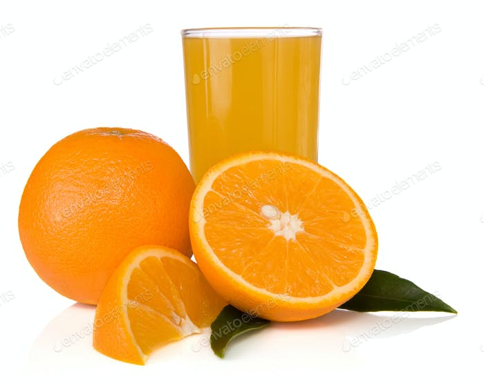 Thumbnail for juice and oranges isolated on white