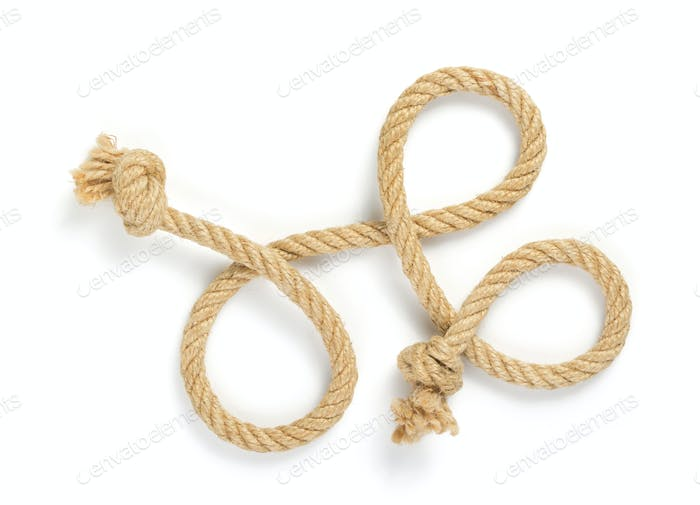 ship rope on white background