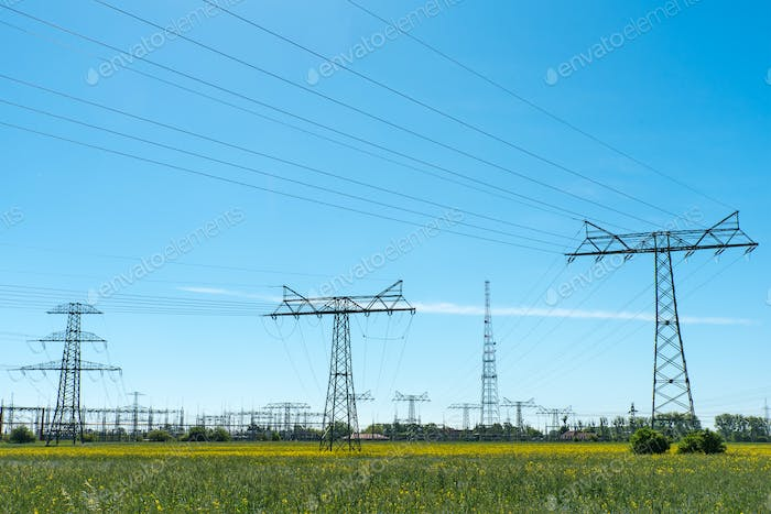 Relay station and power transmission lines