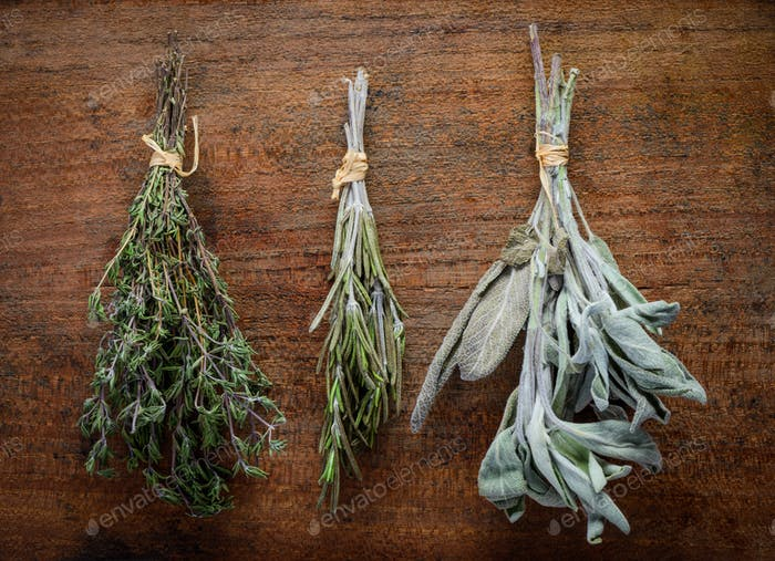 Thyme, Rosemary and Sage Culinary Herbs