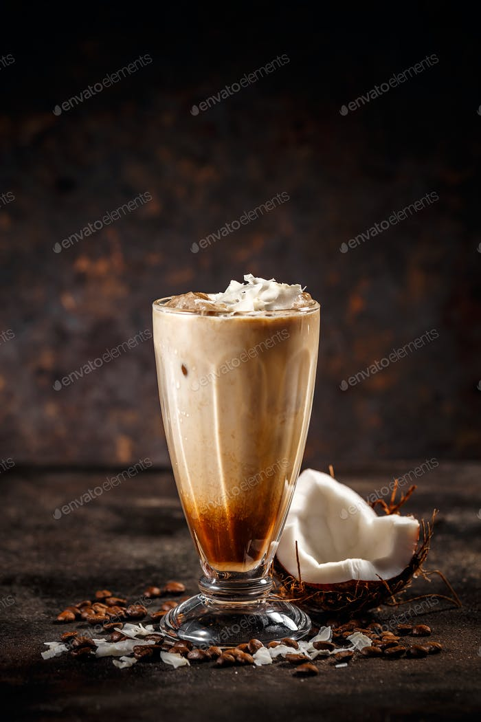 Tasty coconut coffee