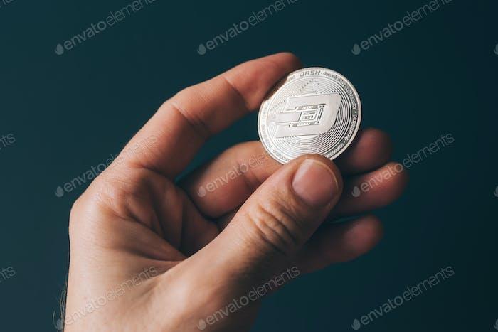 Kryptowährung in der Hand