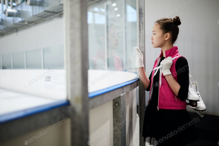 Girl watching Practice