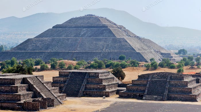 Panorama of Teotihuacan Pyramids