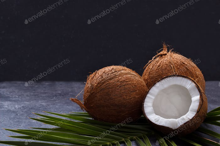 Coconut over black