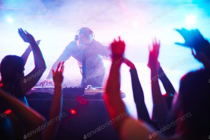 Energetic deejay