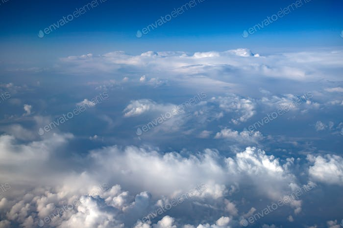 Clouds viewed from airplane