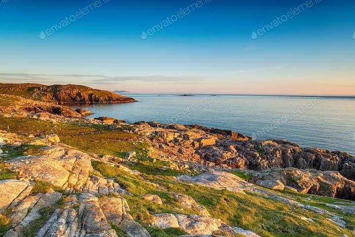 Sunset ove the sea at Huisinis