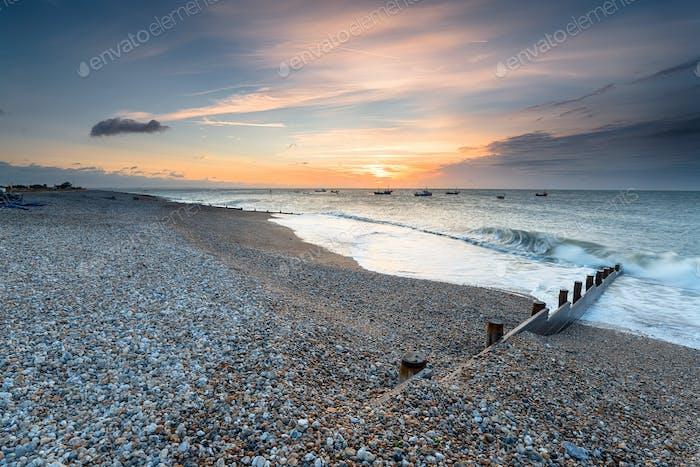 Sunrise at Selsey Beach
