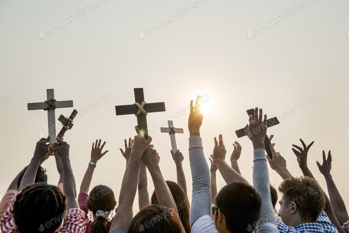 Cross Religion Catholic Christian Community Concept