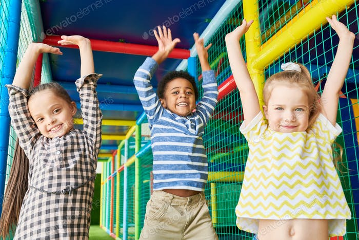 Excited Children in Play Center