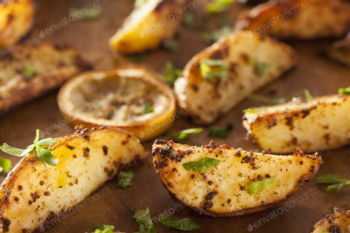 Homemade Roasted Potatoes with Parsley
