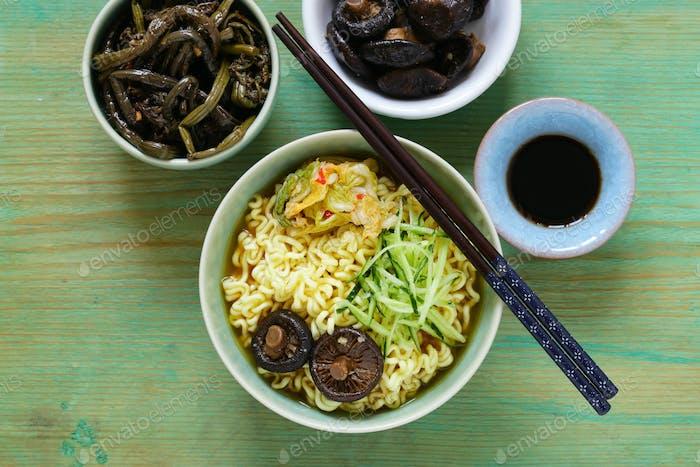 Asian Food Spicy Ramen Noodles