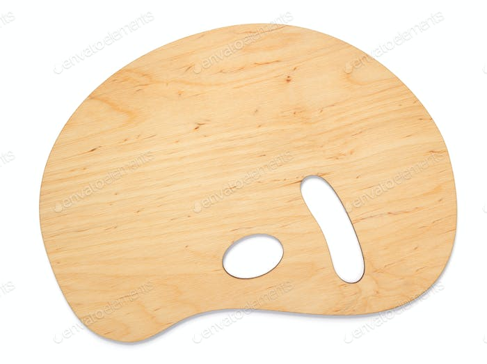 wooden palette isolated at white