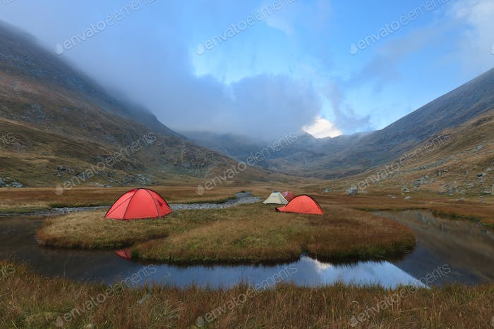 mountain camping site