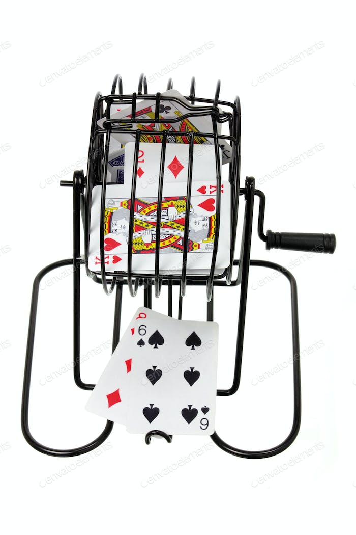 Bingo Game Cage with Playing Cards