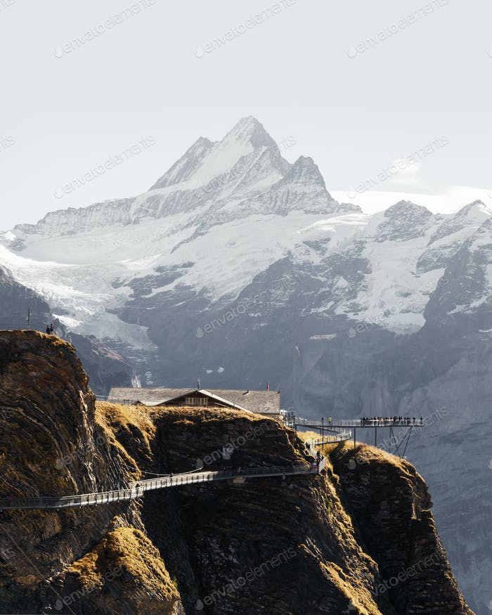 Extreme view point on the top of Grindelwald First cableway
