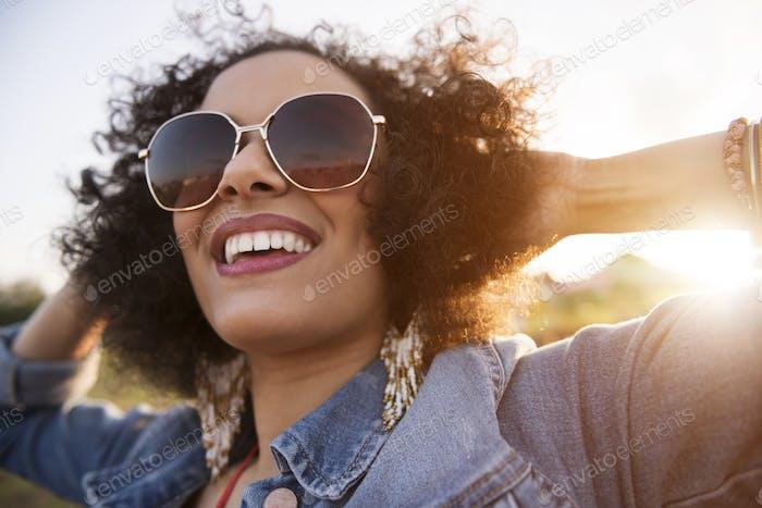 Nahaufnahme der afrikanischen Abstammung Frau