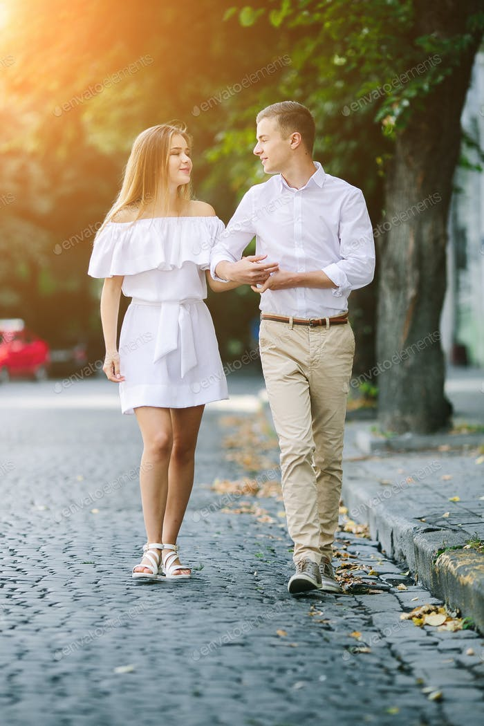 Young beautiful couple