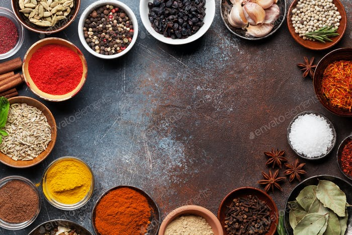 Thumbnail for Set of various spices and herbs