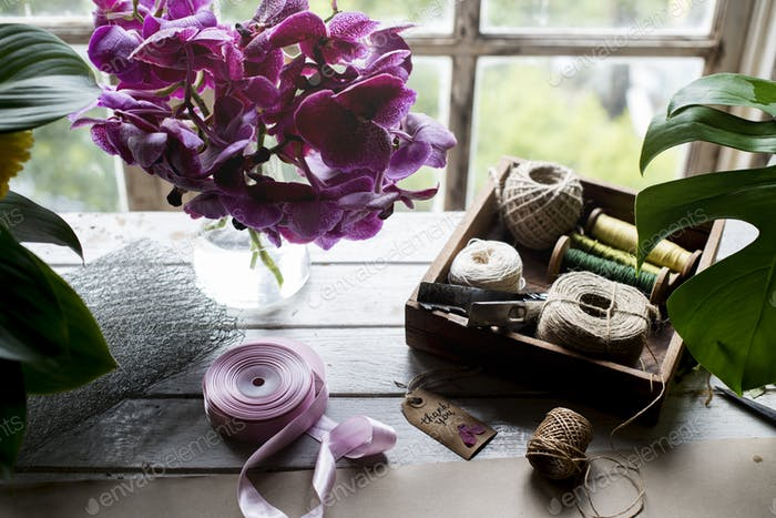 Diy handicraft on the table