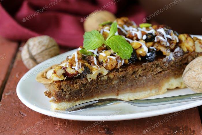 Stück Pecan Pie Torte