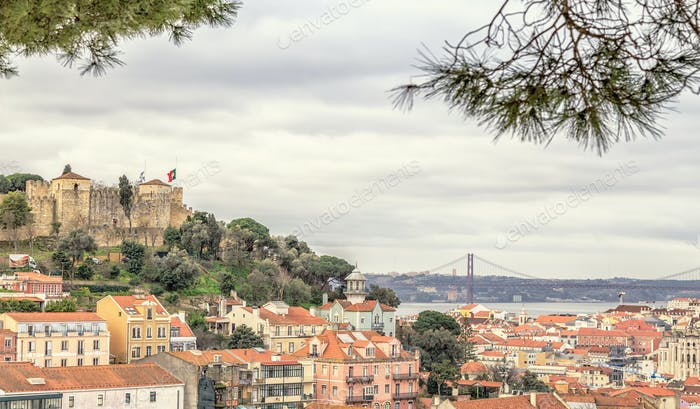 The Castle of St. George in Lisbon, Portugal.