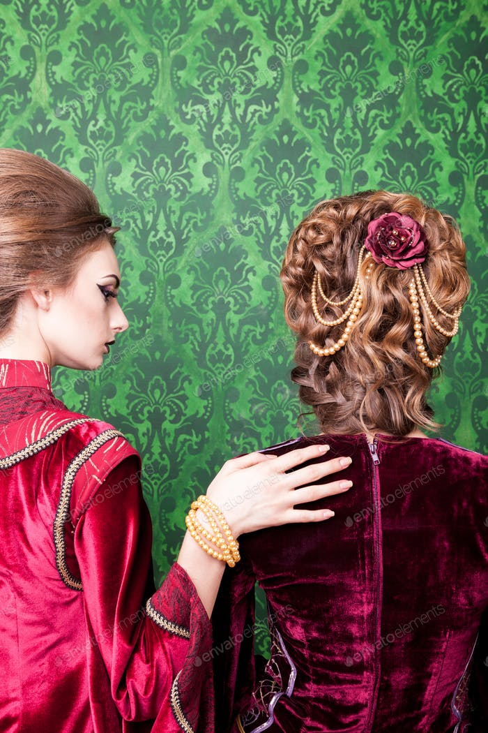 Beautiful hairstyle in vintage style