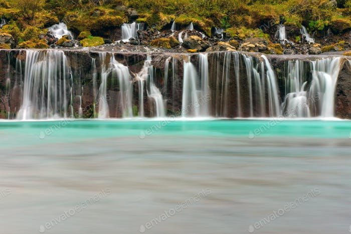 The beautiful Hraunfossar, Iceland