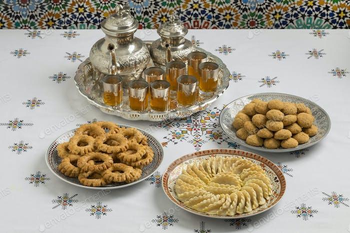Traditionelle festliche marokkanische Kekse