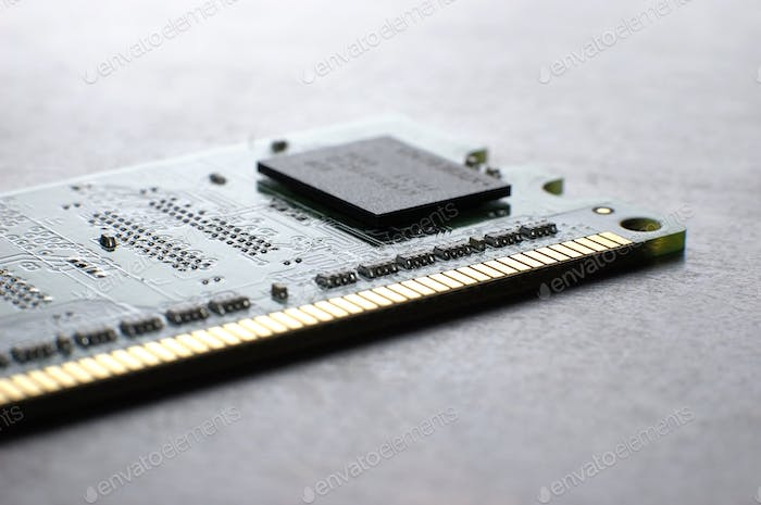 Close up memory board with SMD chip