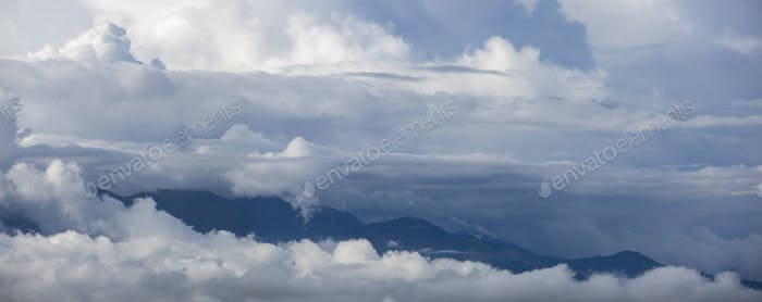Clouds and mountains in Otavalo, Ecuador