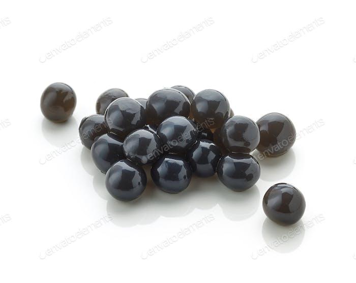 black tapioca pearls for bubble tea