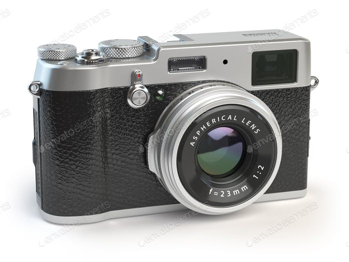 Retro vintage camera  isolated on white