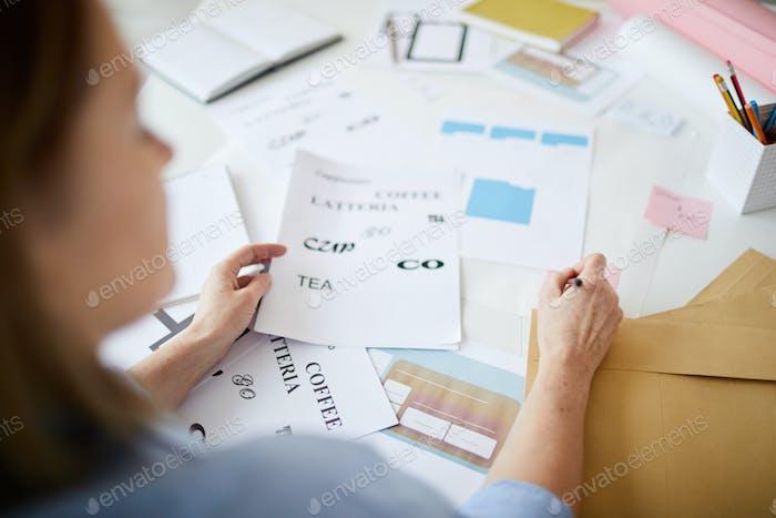 Unrecognizable Designer