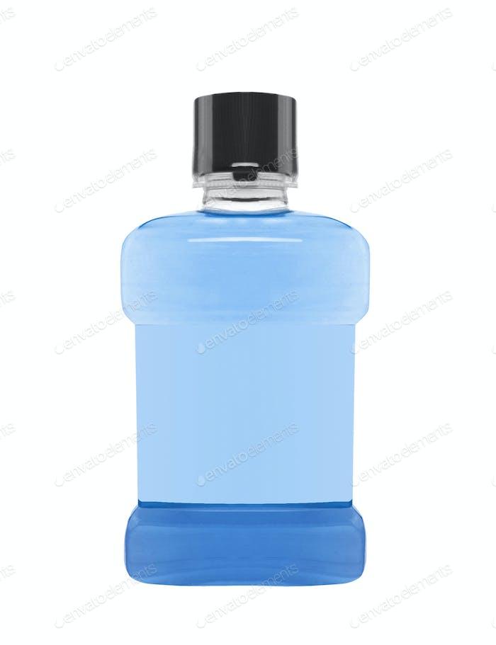 Antiseptic mouthwash with white background