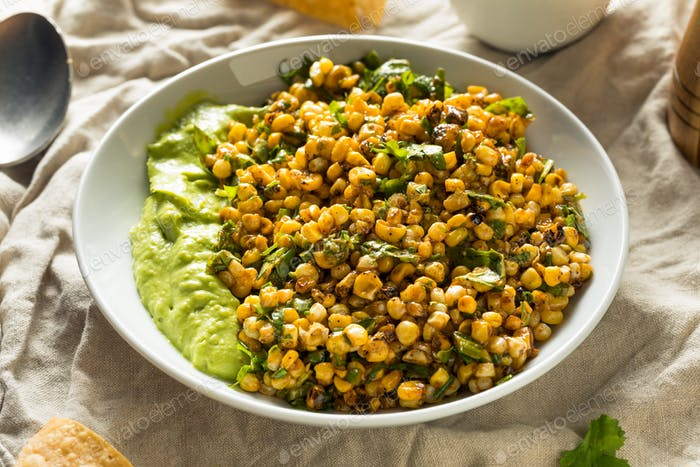 Homemade Roasted Street Corn Salad Dip
