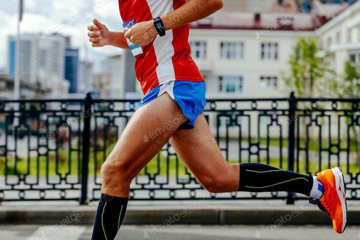 Mann Laufen Stadt Marathon